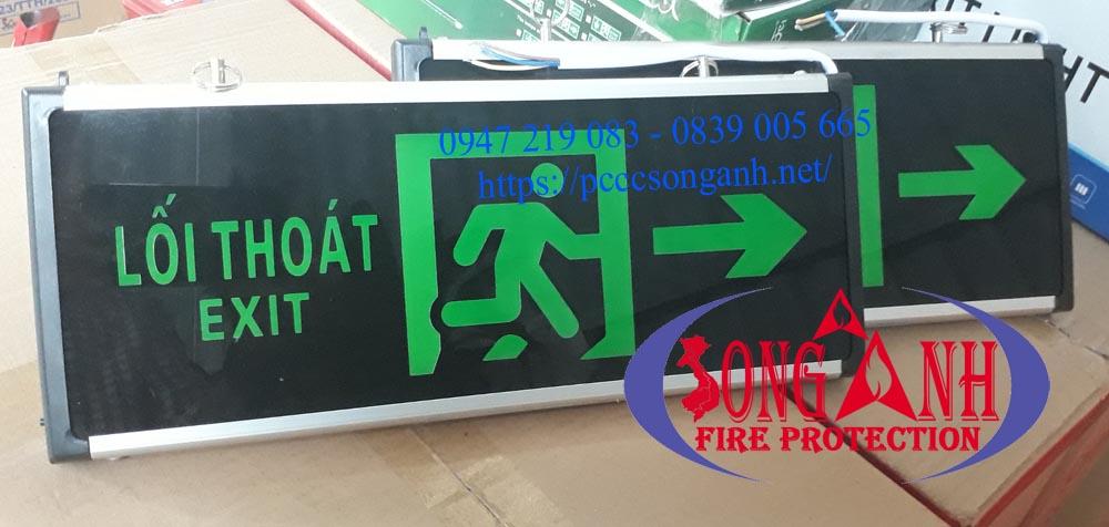 Đèn Exit 2 mặt chỉ hướng AED
