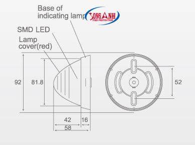 Bản vẽ kĩ thuật đèn báo cháy ChungMei CM-FL1