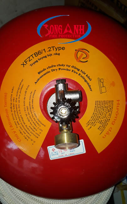 bình cầu chữa cháy tự động xfztb6 BC