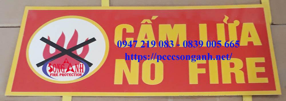bảng cấm lửa pccc