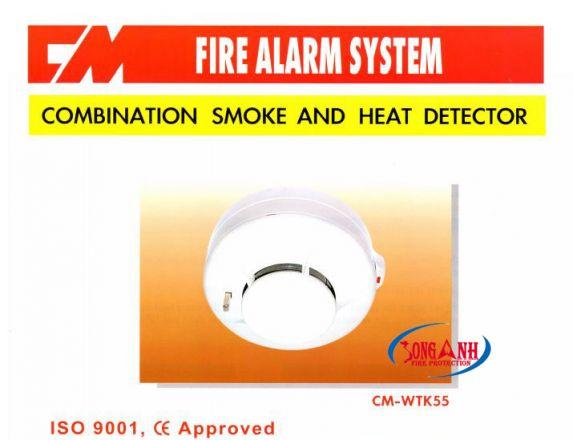 Đầu báo nhiệt khói CM-WTK55