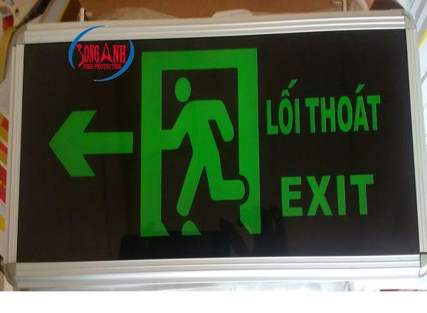 đèn exit aed mặt trái