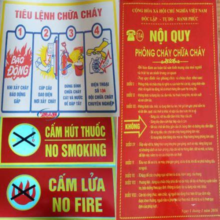Nội quy tiêu lệnh phòng cháy chữa cháy