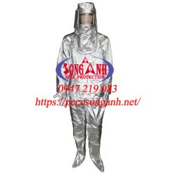 Bộ quần áo chống cháy tráng nhôm 500 độ C