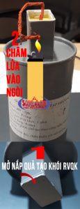 Cách sử dụng quả tạo khói diễn tập pccc QKS/RV