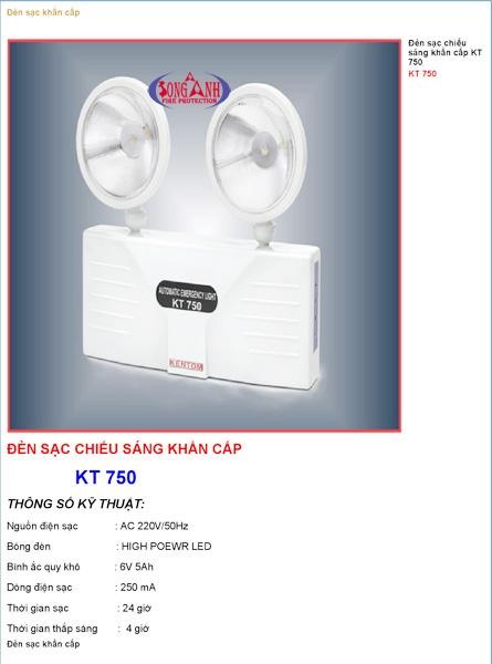 Đèn chiếu sáng khẩn cấp kentom KT750