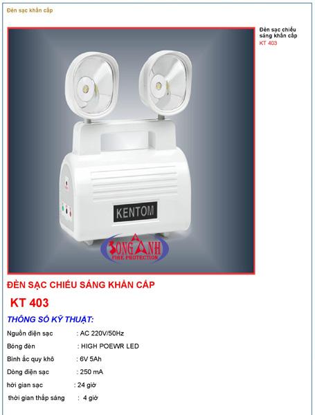 Đèn chiếu sáng khẩn cấp kentom KT403