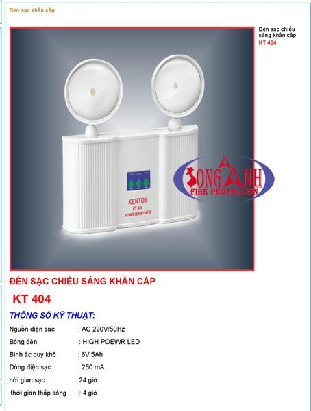 Đèn chiếu sáng khẩn cấp kentom KT404