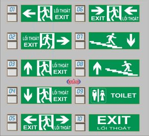 Đèn thoát hiểm (exit) kentom KT610 & KT620