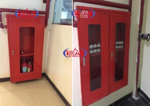 tủ chữa cháy 1200x600x200mm tôn 1mm