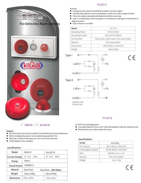 Đèn báo cháy Horing Lih YH-9719
