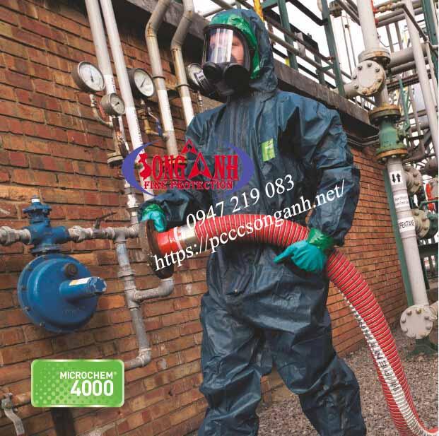 quần áo dùng trong môi trường hóa chất MicroChem 4000