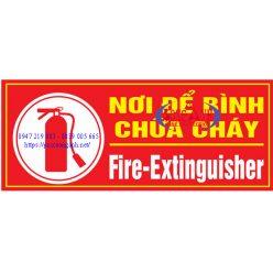 biển báo nơi để bình chữa cháy - pcccsonganh