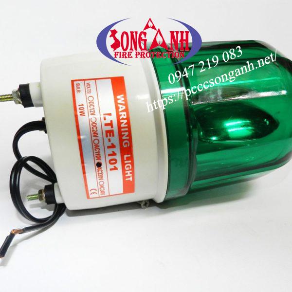 đèn chớp cảnh báo công trường thi công 220v xanh lá