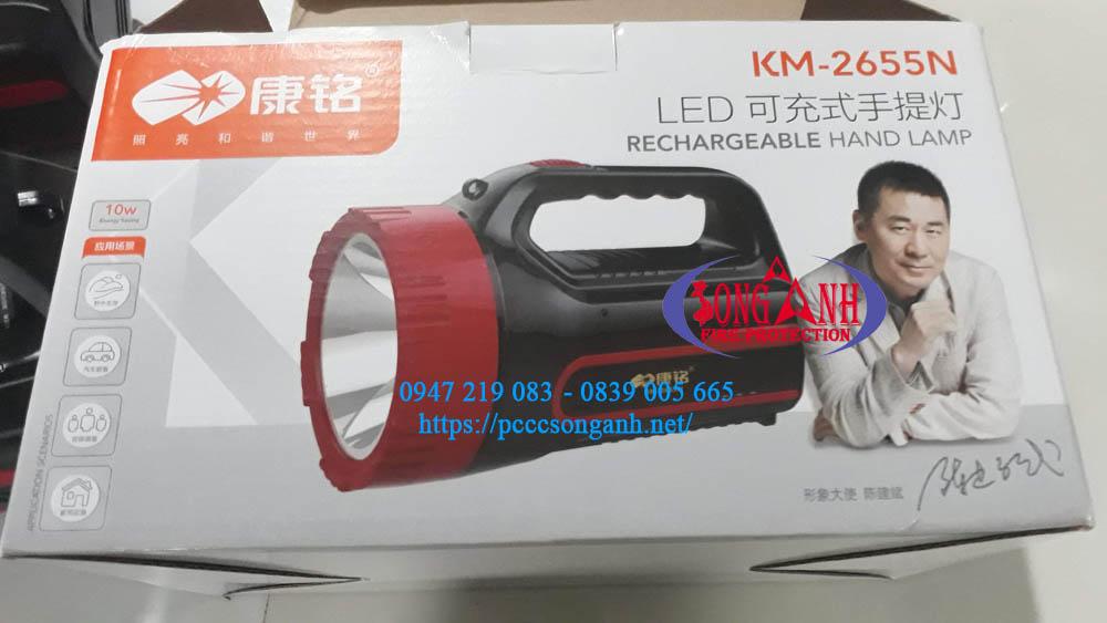 Đèn sạc cầm tay cứu hỏa KM-2655