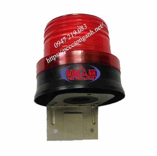 Đèn cảnh báo dùng 2 pin đế nam châm tự động