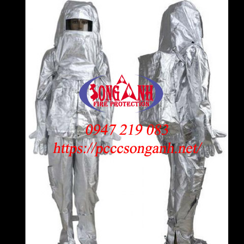 Bộ quần áo chống cháy 700độ C, có túi đựng bình thở sau lưng