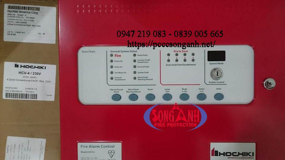 tủ trung tâm điều khiển báo cháy HCV-2 4 8 kênh Hochiki