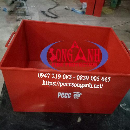 thùng đựng cát chữa cháy